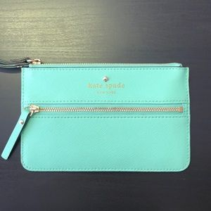 Kate Spade Green Leather Pouch
